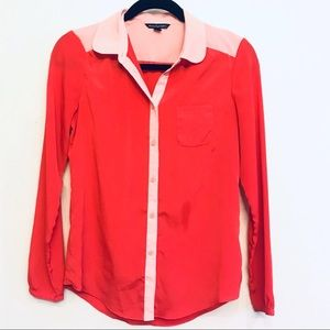 American Eagle silky button up shirt